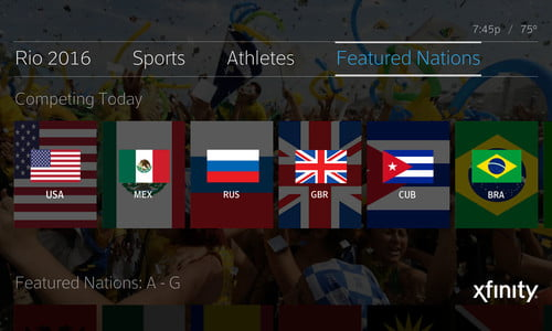 Comcast's X1 will serve up 6,000 Hours of Rio Olympics Gold