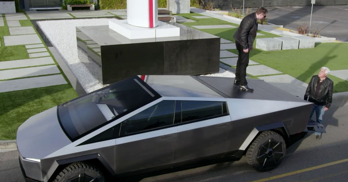Elon Musk is taking the Cybertruck for a spin on Jay Leno's Garage