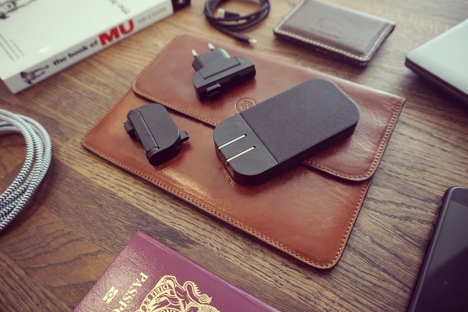 The svelte Mu Two international travel charger can power your laptop and phone