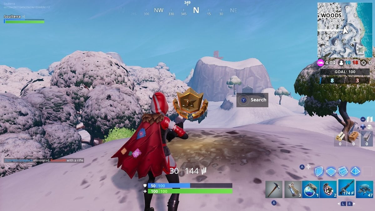 Fortnite Week 8 Challenges Search Between A Mysterious