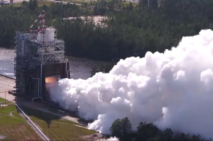 How to watch NASA's first four-engine hot fire of its mighty SLS rocket