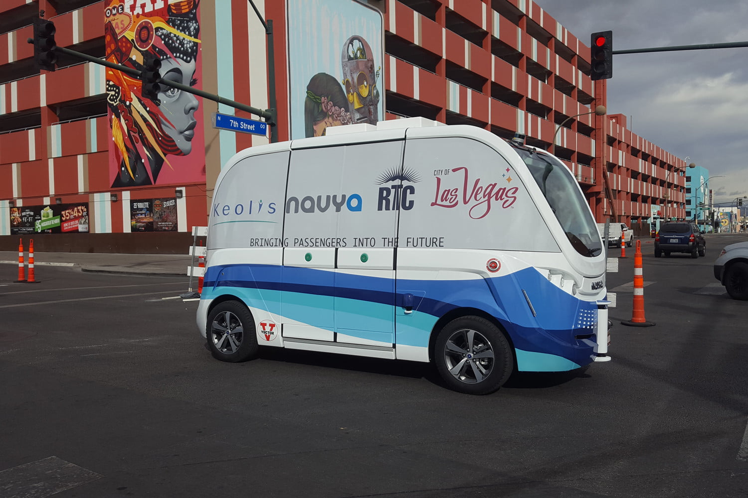 Self-driving buses are now shuttling folks around downtown Las Vegas