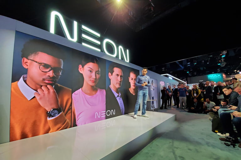 neon artificial human ces 2020 stage