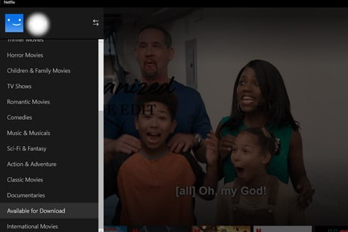 Image of Netflix Available for Download Button