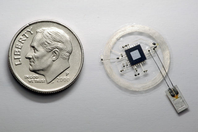 tiny brain sensors dissolve completely after use nfc pressure sensor with coin 02