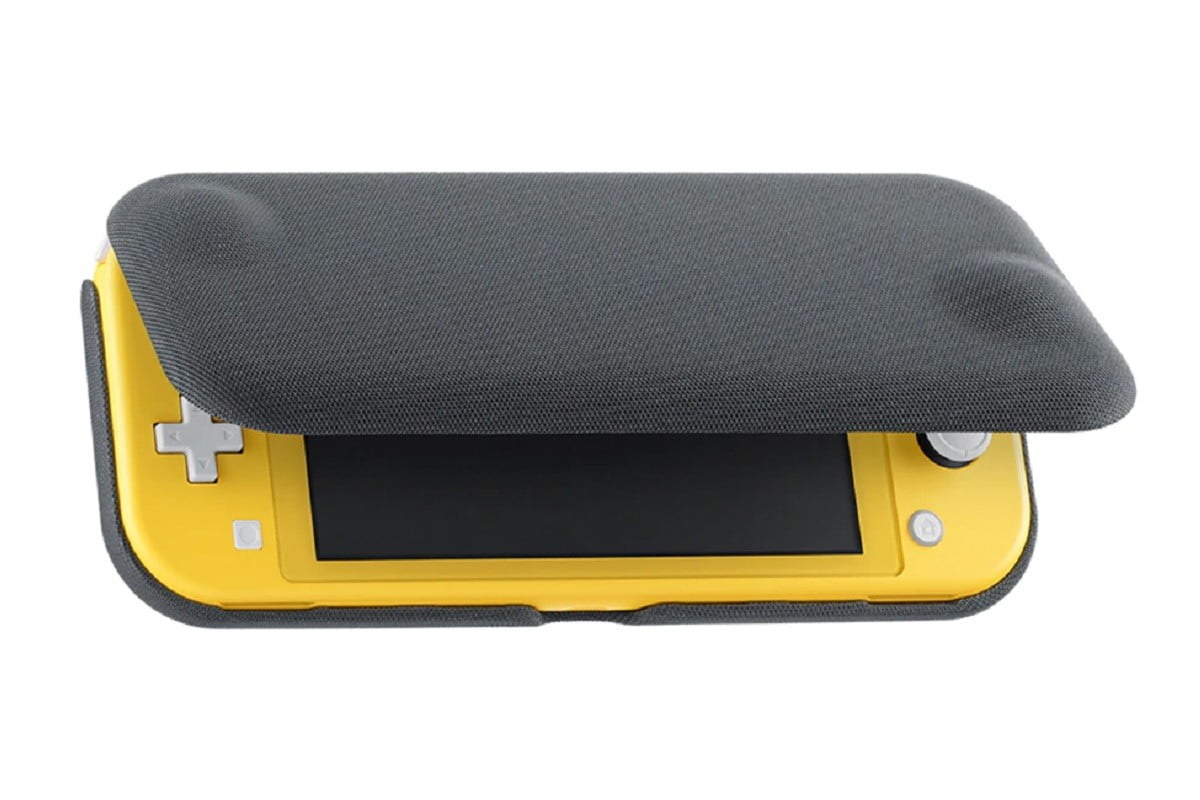 This Nintendo Switch Lite snap-on case with flip cover highlights its perks