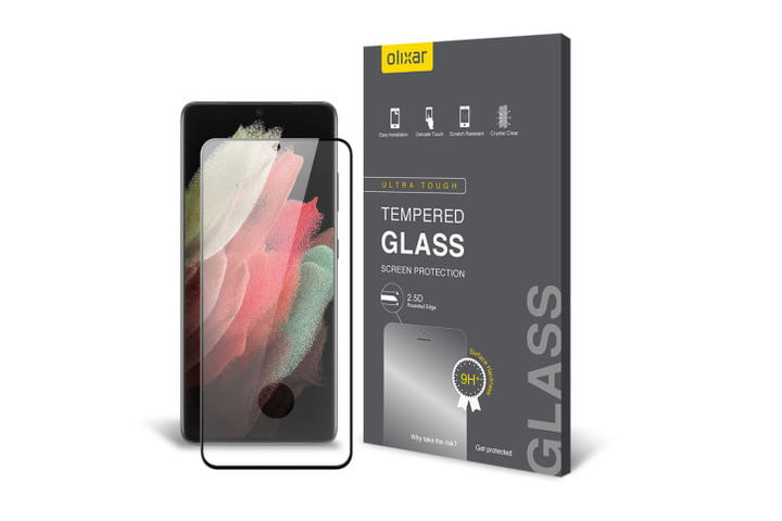 Olixar Case Compatible Glass Screen Protector for Samsung Galaxy S21 Ultra