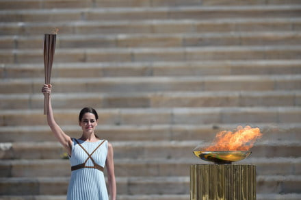 olympic flame handover ceremony in athens 440x292 c - A car could be the star of Japan's Olympic torch relay -  ایگر
