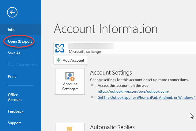 How to Back up Emails, Contacts, and More in Outlook