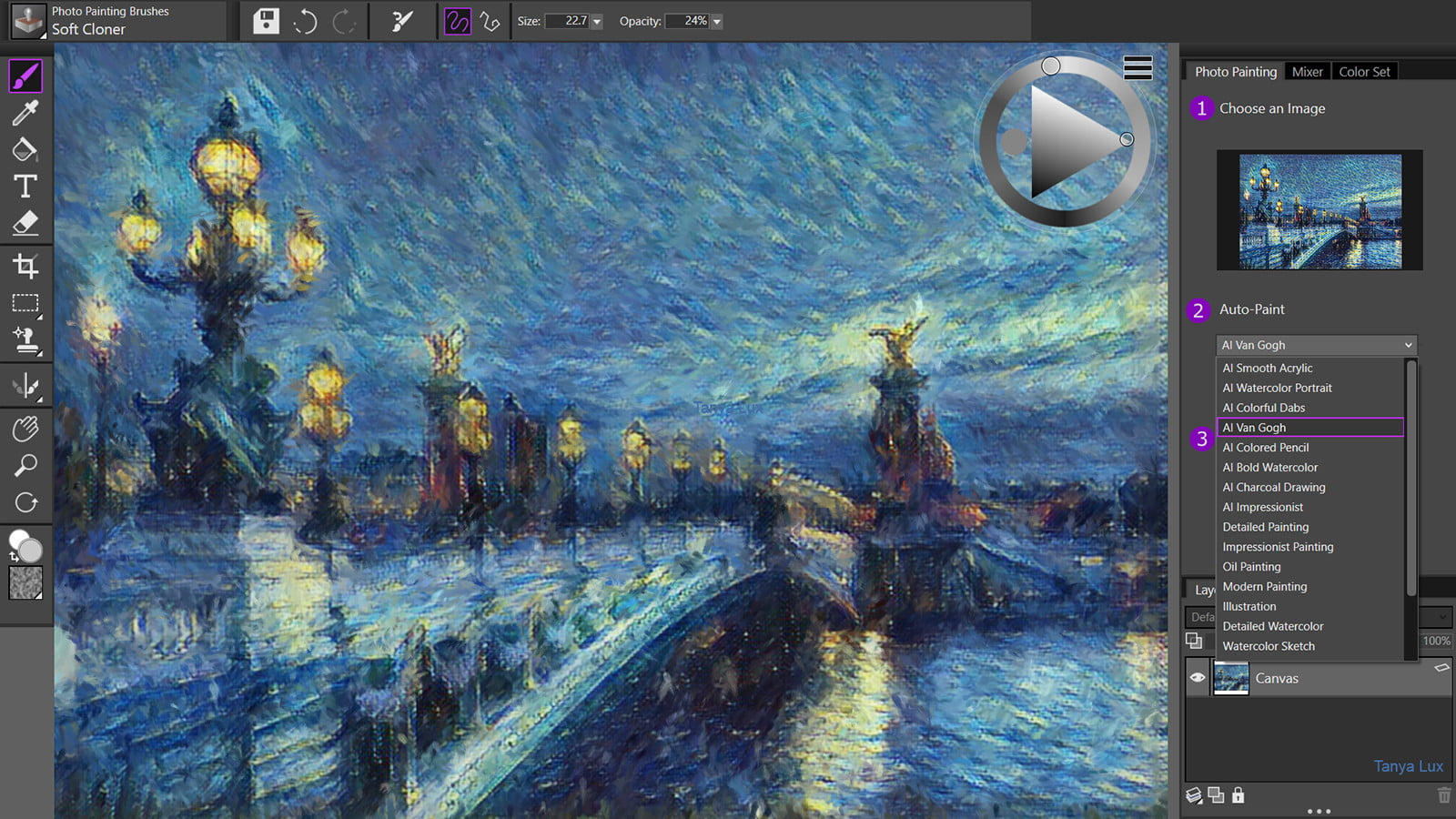 Edit those one-click photo paintings using new paint tools in Painter Essentials