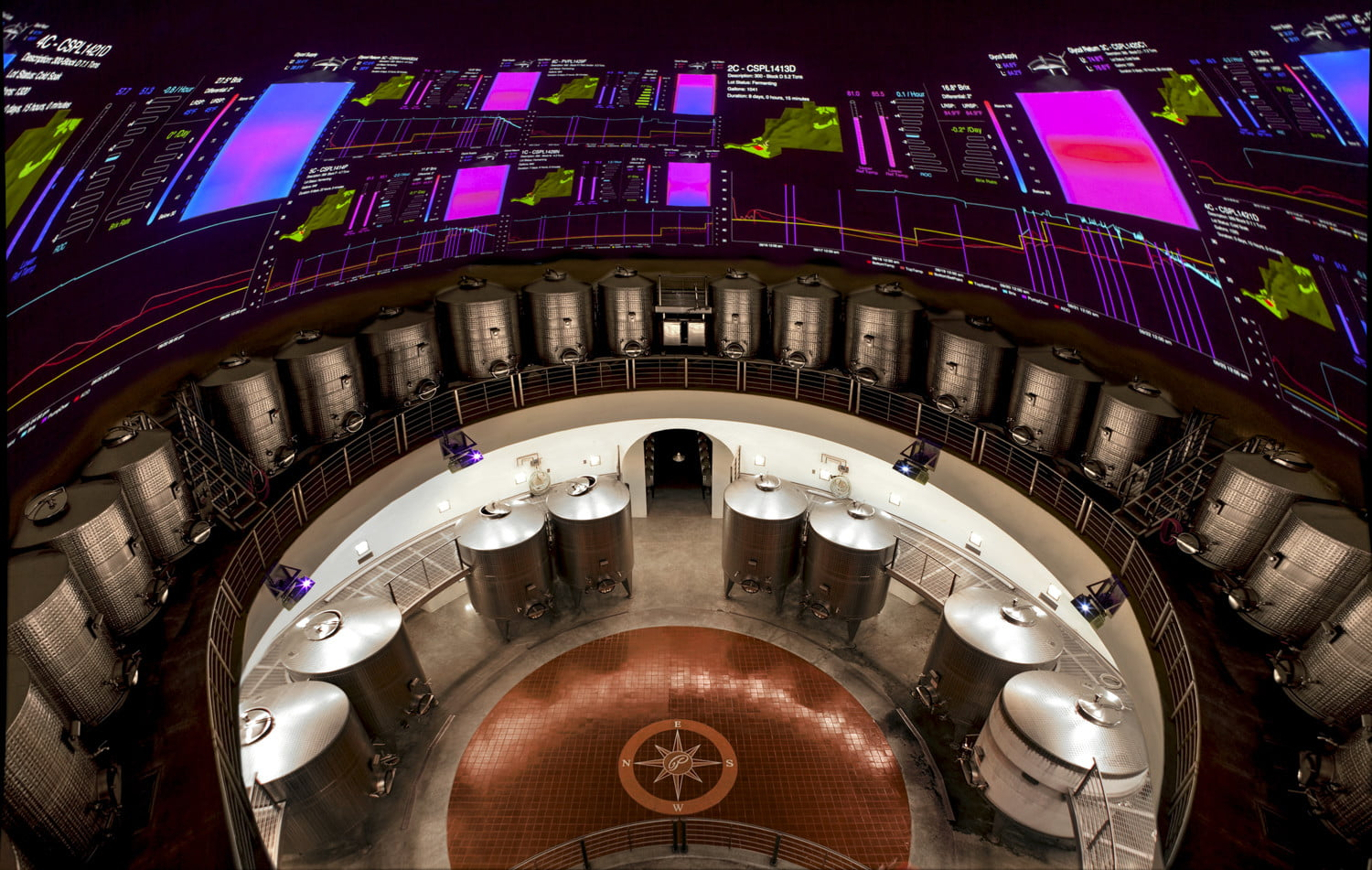 The winery of the future looks like something Bruce Wayne would run