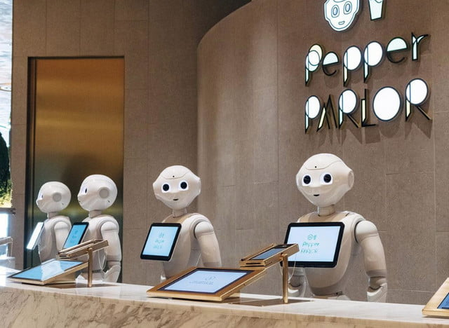 softbank enters the cafe business with new robot filled pepper parlor parlour tokyo
