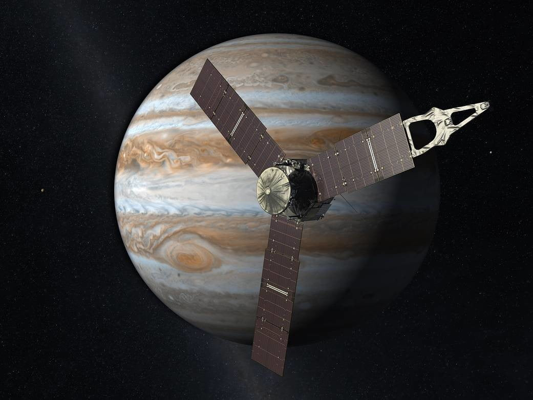 Juno performs longest-ever propulsive maneuver in a race against the sun