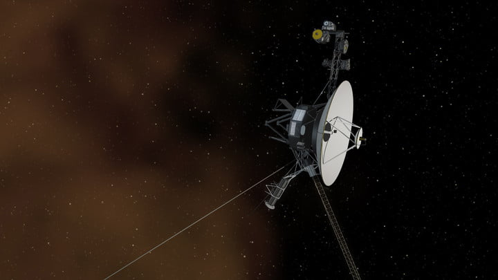 An artist's concept depicts one of NASA's Voyager spacecraft entering interstellar space