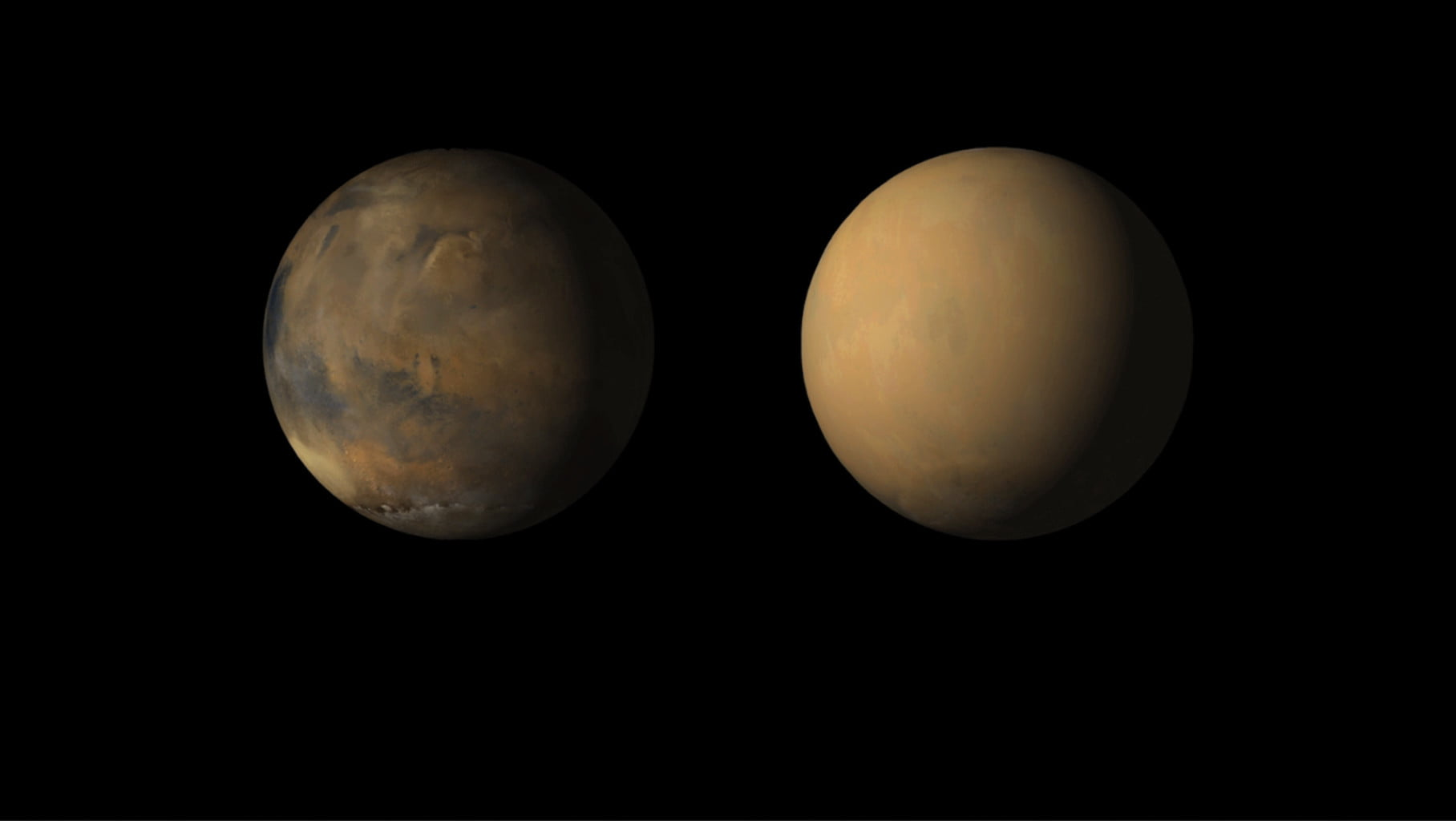 Global storms on Mars shoot towers of dust 50 miles into the sky