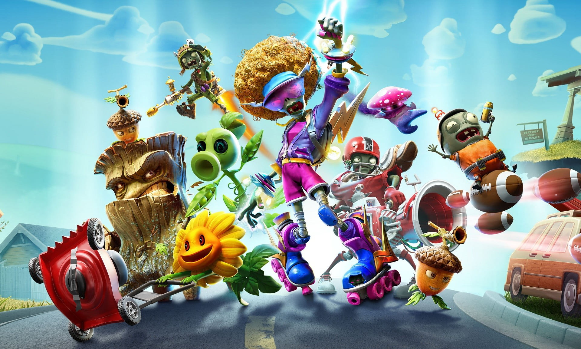 You can play the new Plants vs. Zombies: Battle for Neighborville right now