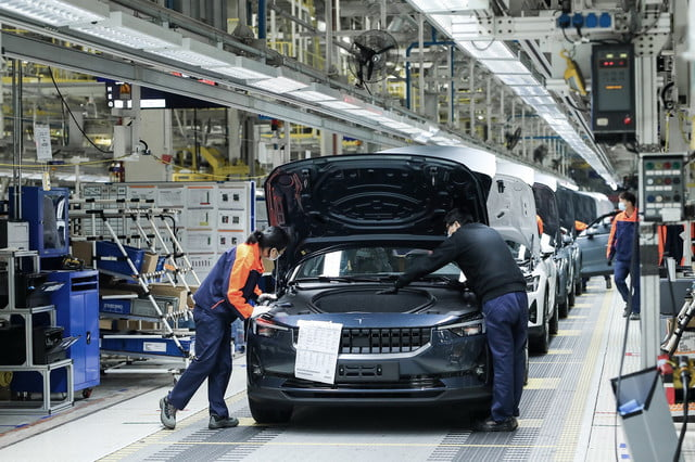 polestar begins production of the electric 2 in china luqiao factory