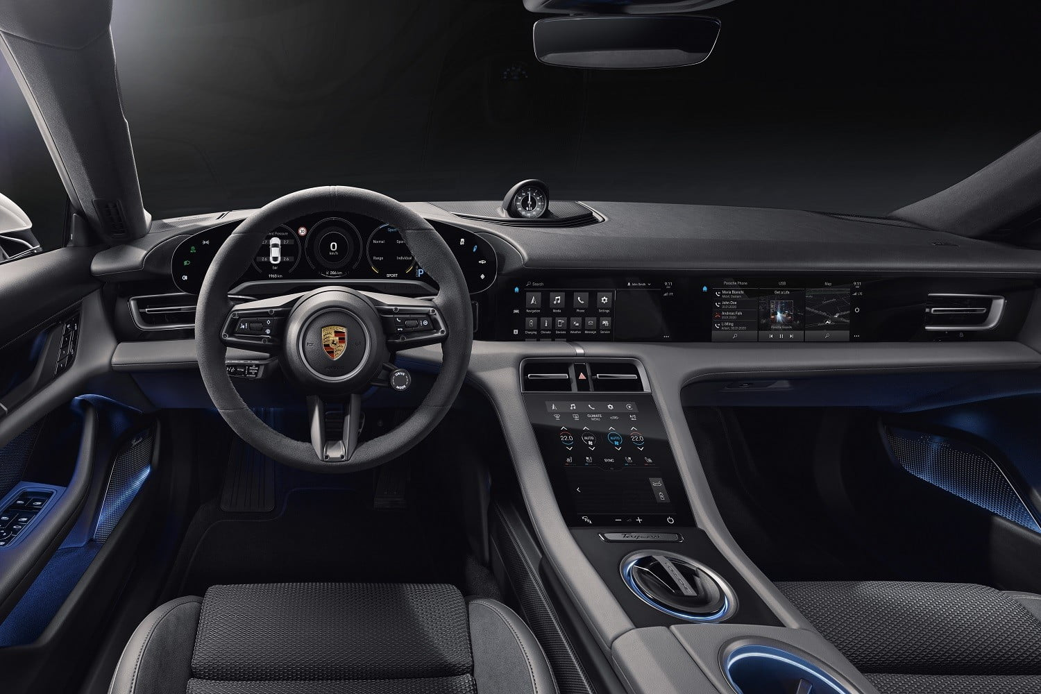The 2020 Porsche Taycan EV has more screens than a 718 Boxster has cylinders