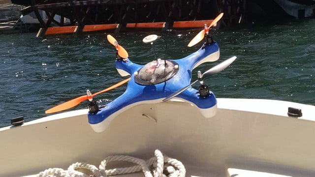 aguadrone fish finder quadcopter drone the first water proof with sonar