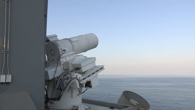 navy tests laser weapon system uss ponce watch the us test an ultra precise in persian gulf