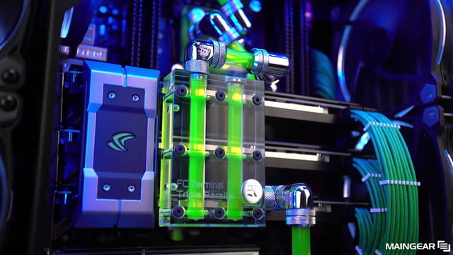maingear takes pre built desktop aesthetics to new level with its rush series gaming systems are stunningly pretty