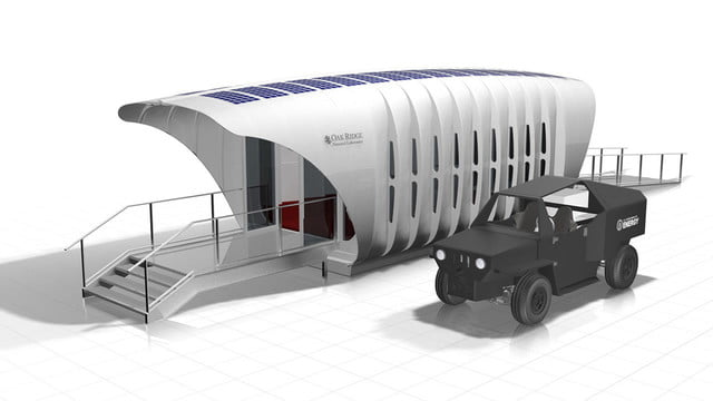 sustainable 3d printed home gets energy from companion car this  off grid house can wirelessly share with a hybrid