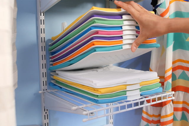 the threadstax keeps your clothes folded in perfect piles