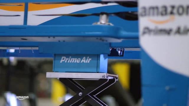 amazon prime air delivery drone unveils all new design for its