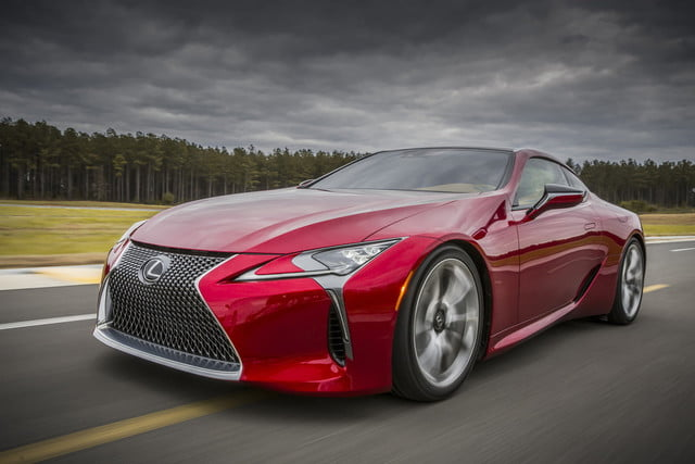 lexus 2017 lc 500 sports aggressive styling v8 power  photos details specs