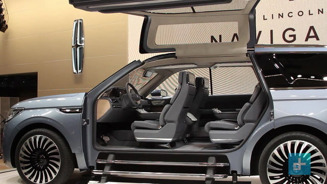 lincolns navigator concept steals the show with massive gullwing doors lincoln  photos details specs