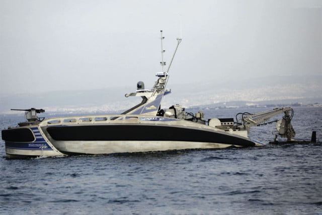 robot warship torpedo high tech fires in military first