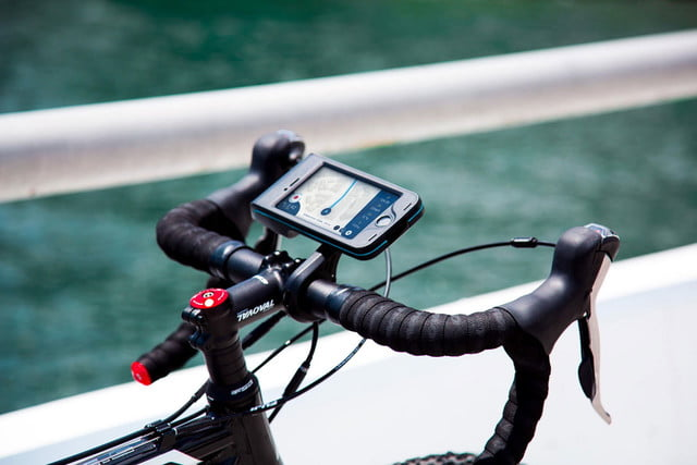 bycle case and app turns iphone into bike computer for tracking rides