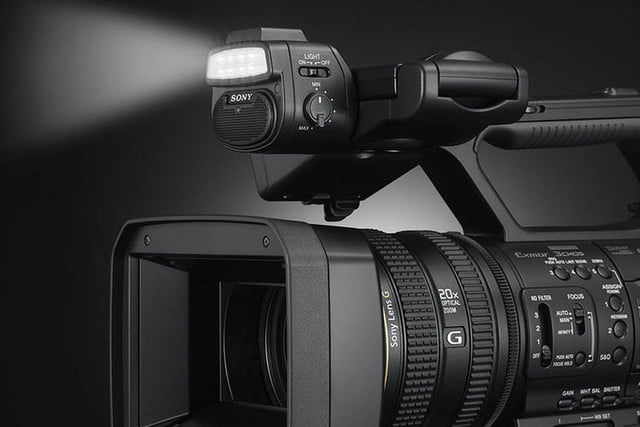 sony nx5r pro camcorder announced adds lamp  live broadcasting to new