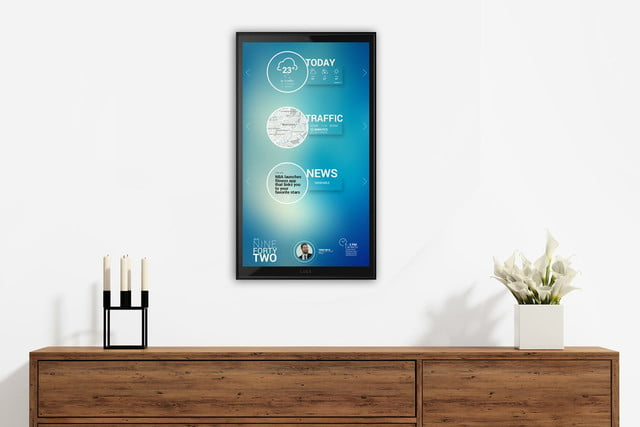 lucy wall ipad smart home assistant is a giant mounted for your