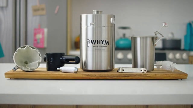 whym home beer making kit launches brew freshly crafted in just 24 hours with