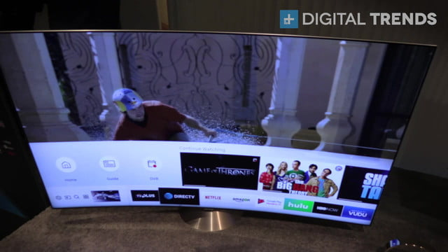 samsung qled ces 2017 hands on video with tv