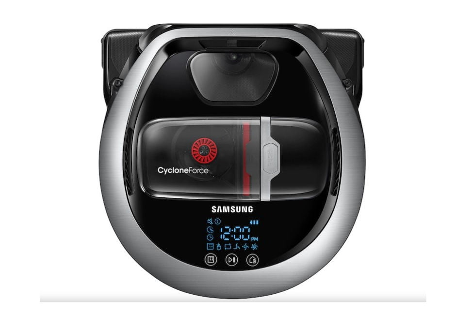 Samsung's robot vacuum uses a rubber blade that cleans corners and wall edges
