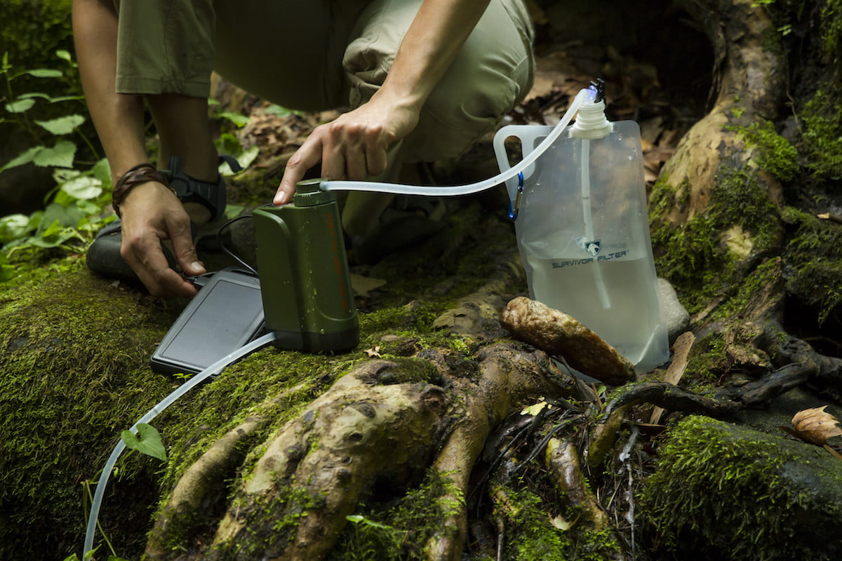 Pro-X is the first portable electric water filter for use in the outdoors