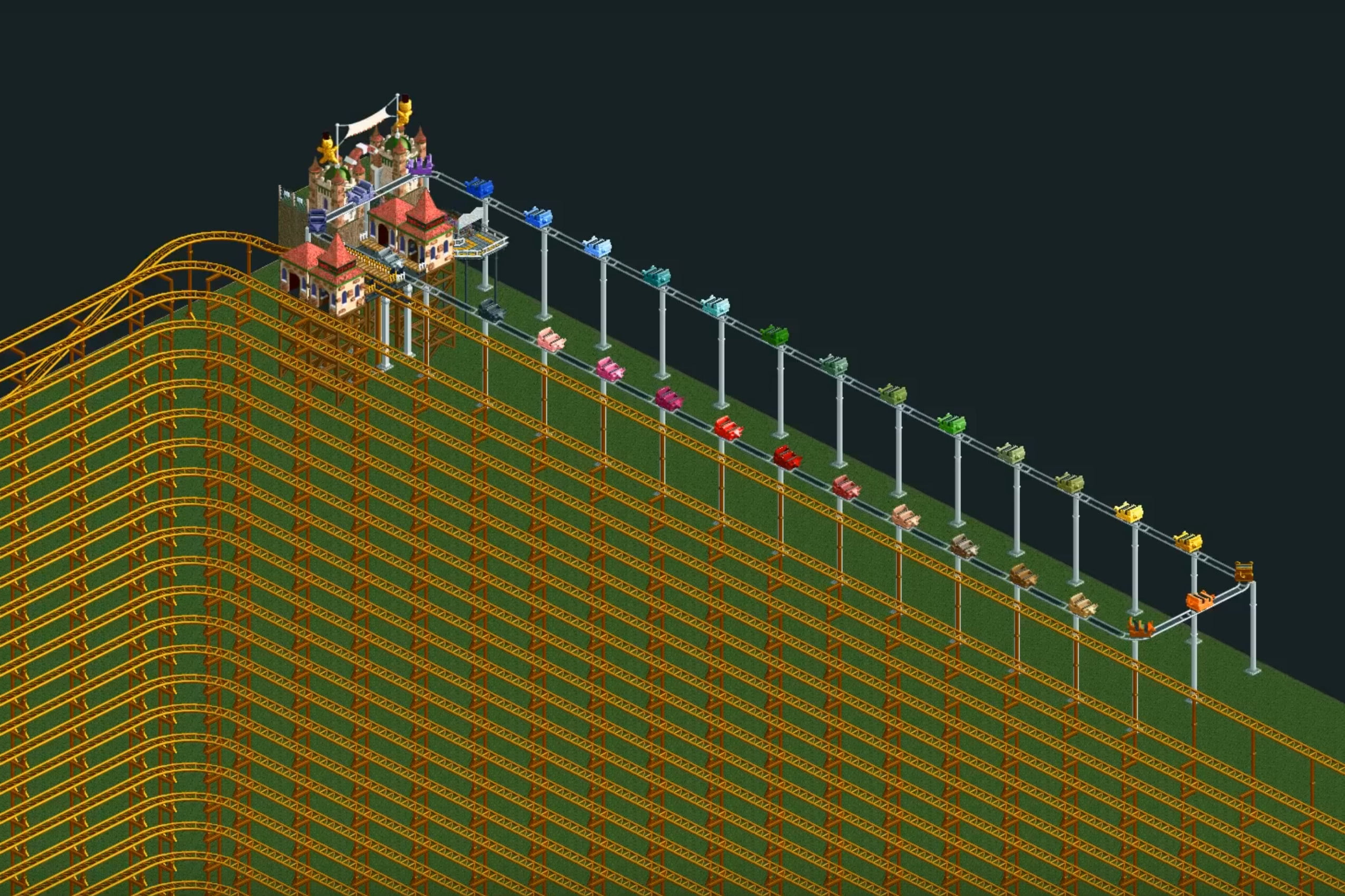RollerCoaster Tycoon 2 Ride Takes 12 Years to Complete