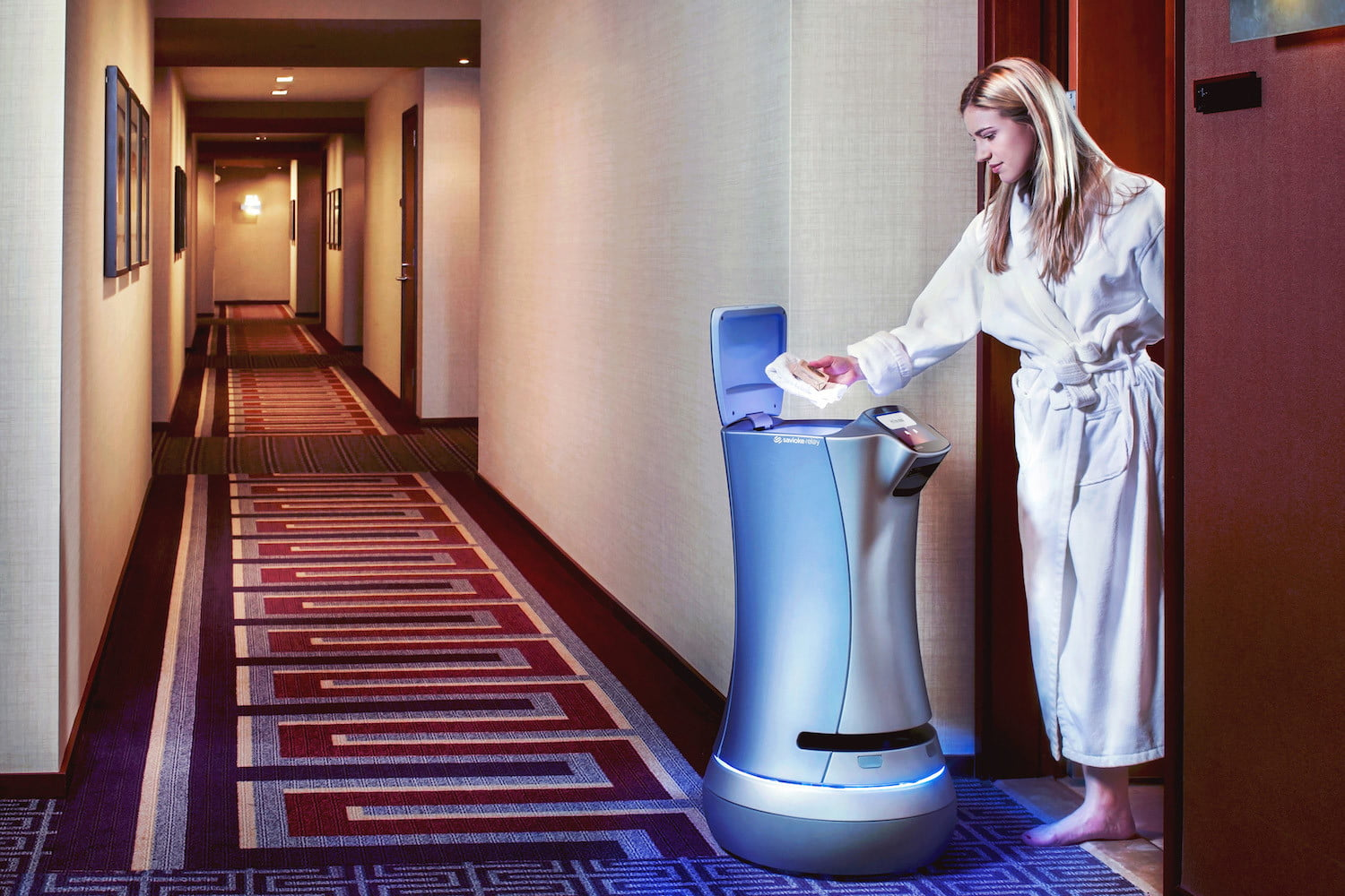 Room-service robot called Relay proves a hit with hotel