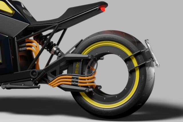 Reminiscent of Tron, RMK's E2 hubless electric motorcycle gets closer to launch