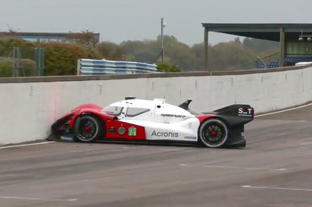 This self-driving racing car could have done with a driver