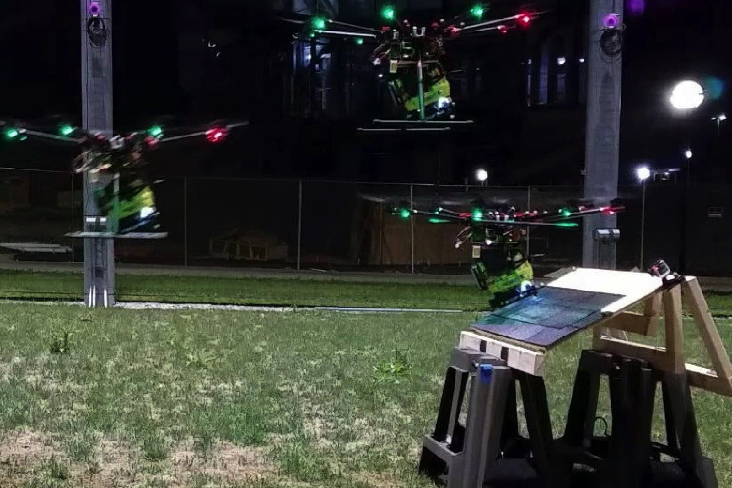 This nail gun drone is either the future of construction or the future of war