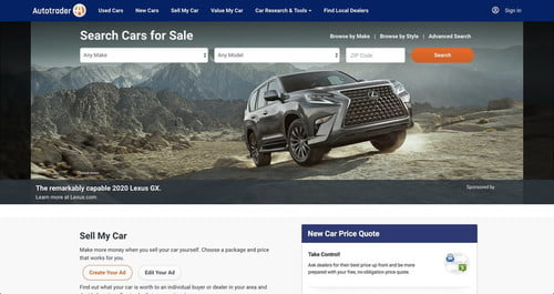 car for sale search site