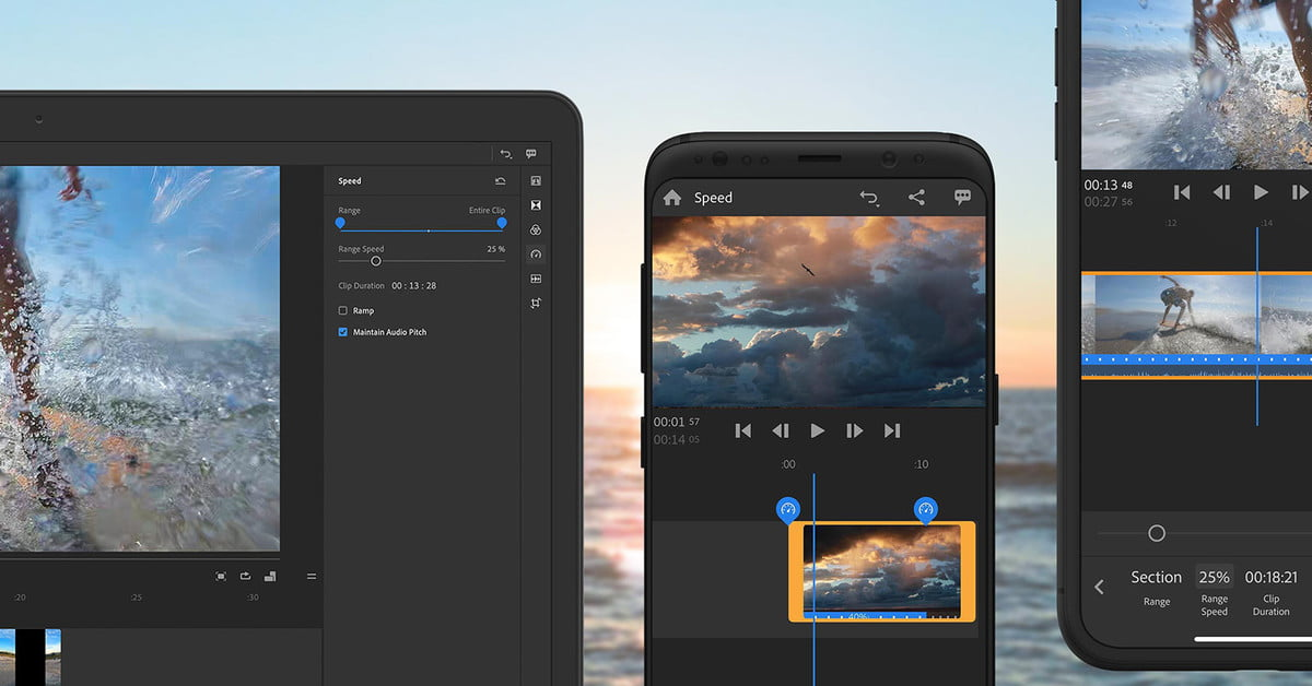 Adobe Premiere Rush Adds New Speed Tools For Slow-Mo