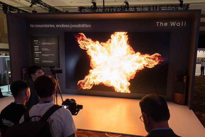 Samsung's blistering 219-inch Micro LED TV will cook your eyeballs, blow your mind
