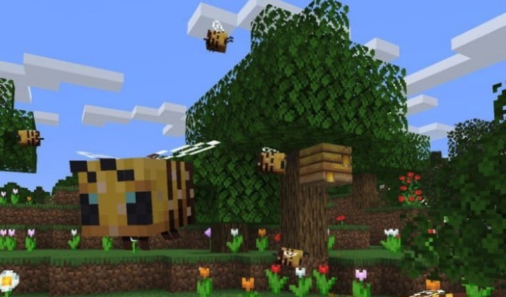 Bees are all the buzz in the latest Minecraft Java Edition update
