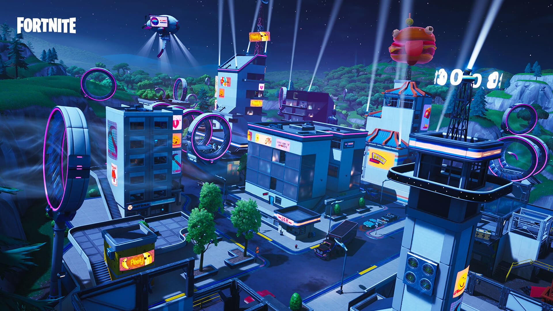 Fortnite Season 9 Map Guide Neo Tilted Mega Mall Pressure