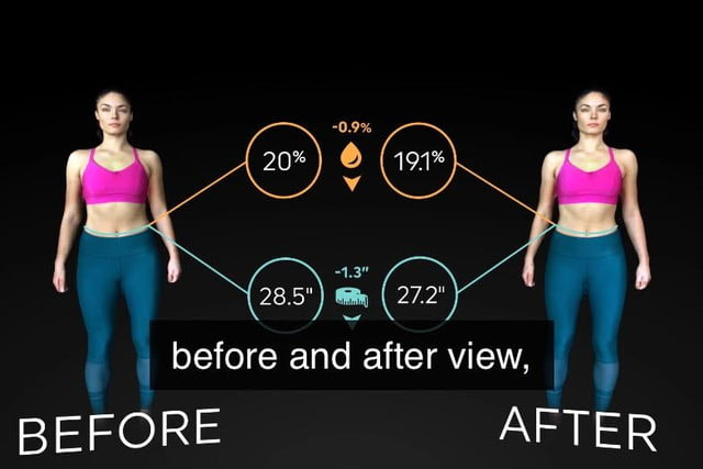 shapescale tells you where youre losing weight before and after
