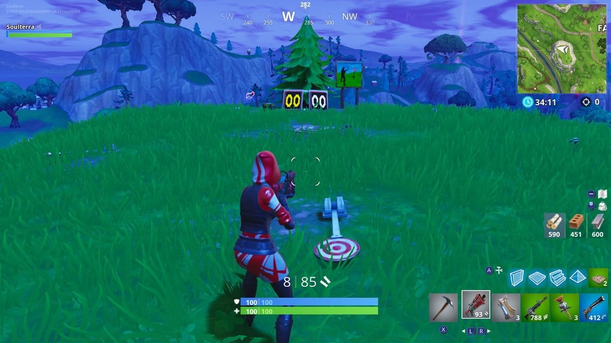 Fortnite Week 4 Challenges Shooting Gallery Locations